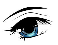Anime eye. Big size of anime girl's eye Royalty Free Stock Image