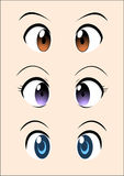Anime eye vector pack royalty free stock images