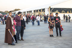 Anime Friends. Sao Paulo, Brazil, July 09, 2016. Traditional japanese pop culture festival, the Anime Friends event on Campo de Marte air base in Sao Paulo. This stock photography