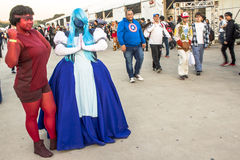Anime Friends. Sao Paulo, Brazil, July 09, 2016. Traditional japanese pop culture festival, the Anime Friends event on Campo de Marte air base in Sao Paulo. This stock photo