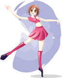 Anime Girl Ballet Dancing Stock Photo