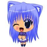 Anime girl Stock Image