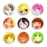 Anime girls badges | Set 2