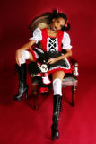 Anime Goth Doll. Beautiful African American woman dressed as Anime Goth Doll Royalty Free Stock Image