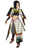 Anime Lady Samurai Royalty Free Stock Image