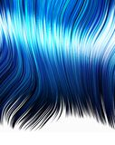 Anime or manga Blue hair  Royalty Free Stock Images
