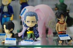Anime manga dolls. Manga and anime toys on the exposintion in the japanese store, Akihabara, Tokyo Stock Photo