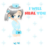 Anime nurse vector Stock Photo