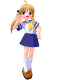 Anime Sailor Saying Hello Stock Image