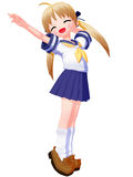 Anime Sailor Yawning Stock Photography