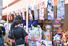 anime sprzedawcy Fotografia Royalty Free