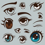 Anime style eyes set Royalty Free Stock Images
