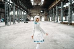 Anime style girl, doll in dress royalty free stock photo