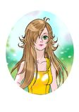 Anime  styled beautiful girl Stock Image