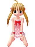 Anime Toon Girl Stock Fotografie