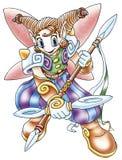 Anime warrior Stock Photo