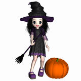 Anime Witch 2 Royalty Free Stock Photo