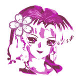 Anime Woman Vector design clipart Royalty Free Stock Photography