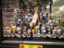 Animediagram lager på Akihabara den elektriska staden, Tokyo arkivfoto