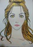 Animeflicka royaltyfri fotografi