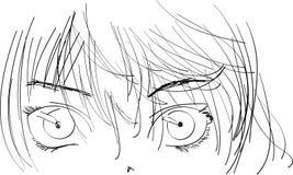 animeflicka vektor illustrationer