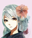 Animeflicka Royaltyfri Bild