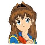 Animeflicka Arkivbild