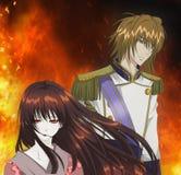 Animeillustratie stock afbeelding