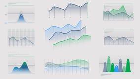 Animerad infographics utan data på den alfabetiska kanalen