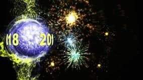 2018 animeringögla för nytt år arkivfilmer
