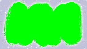 Animering av att göra ren det insnöade fönstret förbi handen i tumvante med den gröna skärmen vektor illustrationer