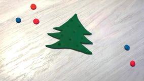Animering av att glöda som är ljus på julgirlanden stock video