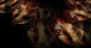 Animering av att sväva Manga Portraits vektor illustrationer