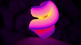 Animering av en abstrakt rotation för logoneonform Sömlös öglasrörelsedesign stock illustrationer