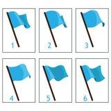 Animering av flaggan för designen av lekar och applikationer royaltyfri illustrationer