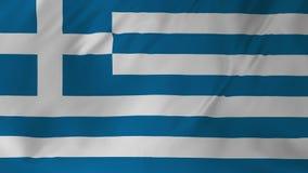 Animering av flaggan av Grekland 2 i 1 stock video