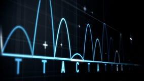 Animering av grafer och statistik stock illustrationer