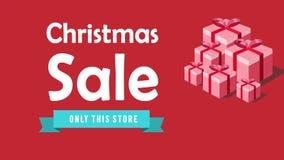Animering av jul Sale Isolat på vit royaltyfri illustrationer
