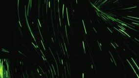 Animering av ljusa partiklar som bildar en tromb Sömlöst loopable Gnistatromb royaltyfri illustrationer