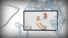Animering av medicinska video royaltyfri illustrationer