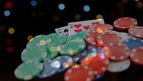 Animering av pokerchiper och kort
