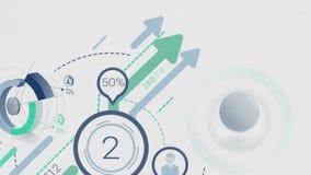 Animering av utveckling med infographicsbeståndsdelar vektor illustrationer