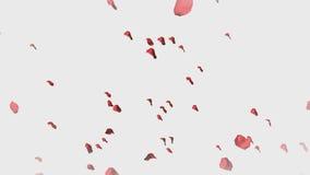 animering 3D av Rose Petals royaltyfri illustrationer
