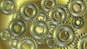 animering 3D av roterande kugghjul vektor illustrationer