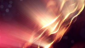 animering för abstrakt begrepp 4k sömlös 3d med glödpartiklar Sammansättning med mousserande partikeldjup av fältet, bokeh och arkivfilmer