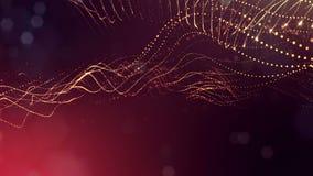 animering för abstrakt begrepp 4k sömlös 3d med glödpartiklar Sammansättning med mousserande partikeldjup av fältet, bokeh och stock video