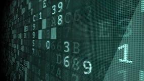 Animering för bakgrund för Digital cyber brotts-