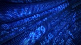 Animering för data för aktiemarknadTickerspris stock illustrationer
