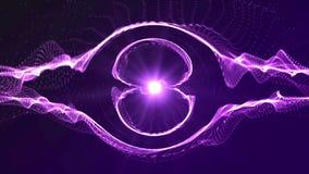 Animering för digital bakgrund för Intro sömlös purpurfärgad av partikeln vektor illustrationer
