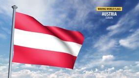 animering för flagga 3D av Österrike